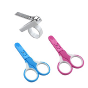 2 PCS Baby Nail Scissors Kit Including Infant Scissors and Nail Clipper Random Colour