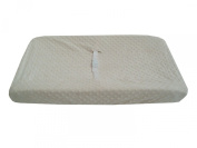 American Baby Company Heavenly Soft Minky Dot Fitted Contoured Changing Pad Cover, Ecru Puff