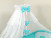 LUXURY BABY COT/ BED CANOPY DRAPE-BIG 480cm COVERS 4 SIDES OF COT BED- WITHOUT HOLDER