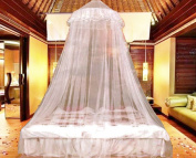 Earthly Roots Extra Large Mosquito Net Canopy 12m continuous coverage x 2.7m high for travel, home or garden
