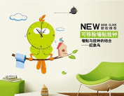 Revesun Funny and Creative Wall Stickers Fair Cloud Bird Clock Wall Murals for Kids Room Decoration Removable 30*90cm
