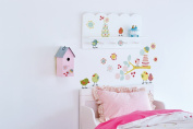 "d-c-fix® ""Wall & More"" Self Adhesive Wall Stickers Bird Party 48cm x 60cm 281-0009"