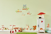 "d-c-fix® ""Wall & More"" Self Adhesive Wall Stickers Woodland Creatures 48cm x 60cm 281-0008"