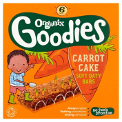 Organix Brands Carrot Cake Soft Oaty Bars, 180g