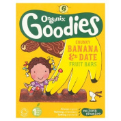 Organix Goodies Fruit Bar Banana & Date, 6 x 17g