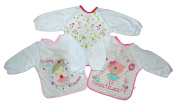 Baby Bib with Sleeves Set Of Three Boys Or Girls 6-18 month Approx