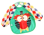 Cute Baby Accessories Feeding Bibs Waterproof Sleeved Bib Baby