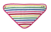 Toby Tiger 100% Organic Cotton White & Pink Multi Stripe Dribble Bib