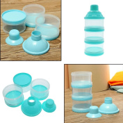 VANKER 3 Layer Baby Infant Food Milk Powder Bottle Box Dispenser Container Holder Case Blue