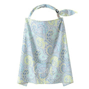 VANKER Soft Cotton Cover Infant Breastfeeding Nursing Blanket Shawl Pack Sea blue