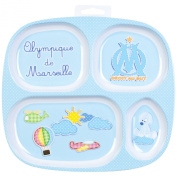 Olympique de Marseille Football Club Childrens Melamine Plate 4 Compartments