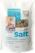 11506 Antistress lavender salt 200gm Salon SPA collection