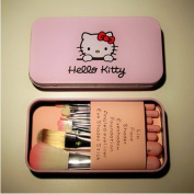 UDTEE New/Fashion/Cute Hello Kitty 7 Makeup Foundation Powder Eyeshadow Brushes Set by UDTEE