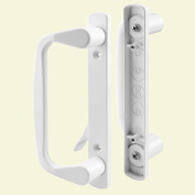 Slide-Co 142264 Sliding Door Decorative Handle Set, White by Slide-Co