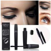 LuckyFine 2Pcs/Set Makeup Eyelash Long Curling Fibre 3D Mascara Eye Lashes Extension Black