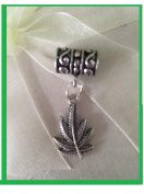Dreadlock Hair Charm Leaf Cuff