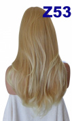 WIG FASHION 60cm Ladies 3/4 Half Fall Wig - Sexy Long Layered Flick Wavy Style - STRAWBERRY TIPPED BLONDE - Heat Resistant Synthetic - Clip In Hair Piece Women Extension Z53