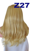 WIG FASHION 60cm Ladies 3/4 Half Fall Wig - Sexy Long Layered Flick Wavy Style - GOLDEN #26 - Heat Resistant Synthetic - Clip In Hair Piece Women Extension Z27