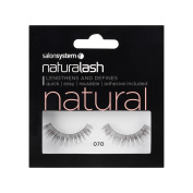 Salon System Naturalash Striplash Black False Eyelashes 070