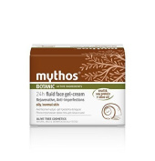 MYTHOS 24H LIGHT REGENERATING FACE CREAM-GEL OILY TO NORMAL SKIN OLIVE + PROTEINS FROM SNAIL'S SECRETION 50 ML.