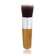 DINGANG 1pcs Flat Top Buffer Wooden Liquid Foundation/Bronzer Kabuki Makeup Brush