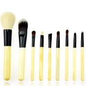LaRoc 9 Pieces Makeup Brush Cosmetic Set Kit Eyeshadow Foundation Powder Blush Eye