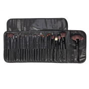 Tenn Well Make Up Brush Set 24-Piece Essential Brush Set Makeup Brushes with black Pouch