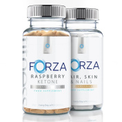 FORZA FITNESS Raspberry Ketone (90 Caps) & BEAUTY Hair, Skin & Nails