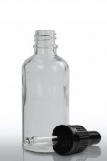 Pharmaceutical/Aromatherapy Glass Bottles - Pack of 10 - Refillable Bottles with Black Pipettes