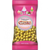 Sweetworks Celebrations Candy Sixlets Bag, 410ml, Shimmer Yellow