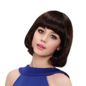 ACVIP Women's Short Straight BOB Wig Brown 4 Design