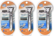 Schick Quattro Razor & Cartridges, Titanium Coated Blades - Packaging May Vary - 3 Pack + Bonus