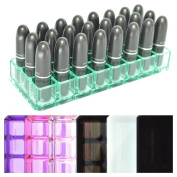 Acrylic Lipstick Organiser & Beauty Care Holder Provides 24 Space Storage | byAlegory