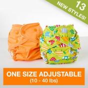 FuzziBunz Adjustable One Size Pocket Nappy (4.5-18kg) - Belle
