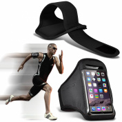 N4U Online® - Apple Iphone 6 Custom Made Sports Armbands Running Bike Cycling Gym Jogging Ridding Arm Band Case Cover - Black