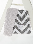 Charcoal Chevron/Grey Swirl Cuddle