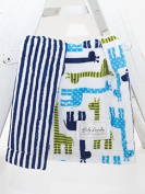 Giraffes/Navy Stripe Cuddle