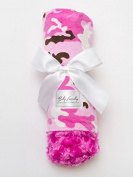 Baby Laundry Pink Camo/Fuchsia Swirl Baby Blanket 70cm x 90cm