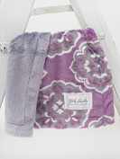 Baby Laundry Violet Medallion/Grey Posh Cuddle Blanket 33cm x 46cm