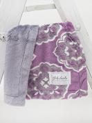 Baby Laundry Violet Medallion/Grey Posh Cuddle Blanket 33cm x 46cm