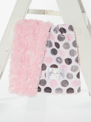 Baby Laundry Pink Dot/Pink Swirl Cuddle Blanket 46cm x 33cm