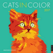 Cats in Color 2017 Wall Calendar