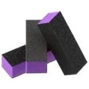 10x 3 Way UK Nail Buffer / File Block 60/100 Grit