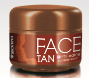 Soleo Face Tan anti-ageing accelerator for sunbed tanning 15ml jar/pot