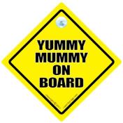 Yummy Mummy on Board Sign, Yummy Mummy, Yellow, Baby on Board Sign Style, baby on board, Bumper Sticker Style, Car Sign, Auto Sign