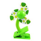 KF Baby Clip-On Mini Stroller Fan, Green