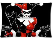 Cotton and Polyester Two Sides Bed Pillow Pillowcases with Harley Quinn and The Batman Print standard size 20