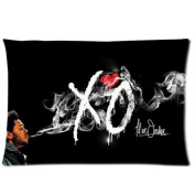 The Weeknd Xo Black Custom Pillowcase Pillow Case Covers 16X24 one Side