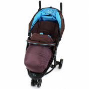 iSafe Visual 3 Universal Deluxe 2 In 1 Footmuff Cosytoes Liner - Hot Chocolate Brown