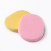 2 Pcs Round Shape Body Face Facial Makeup Cosmetic Powder Puff Soft Sponge